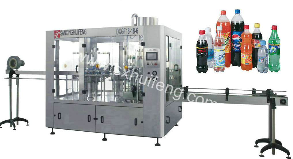 18/18/6 Gas drink bottling machinery