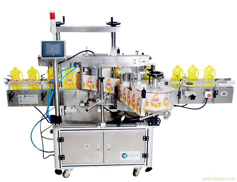Adhesive labeling machine