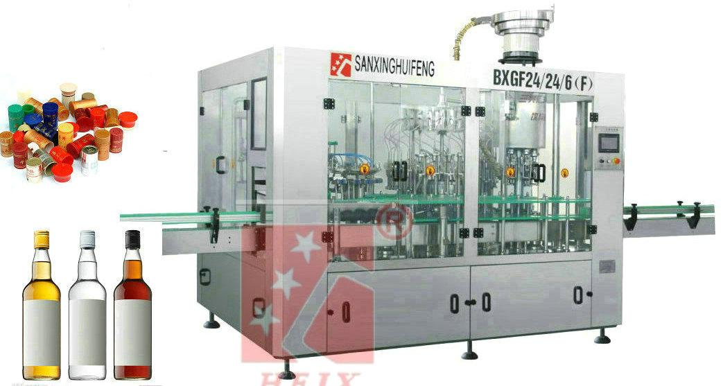 Liquor wine bottling machinery